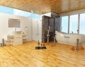 Đổi mới nhà tắm theo phong cách nhiệt đới Scandinavia